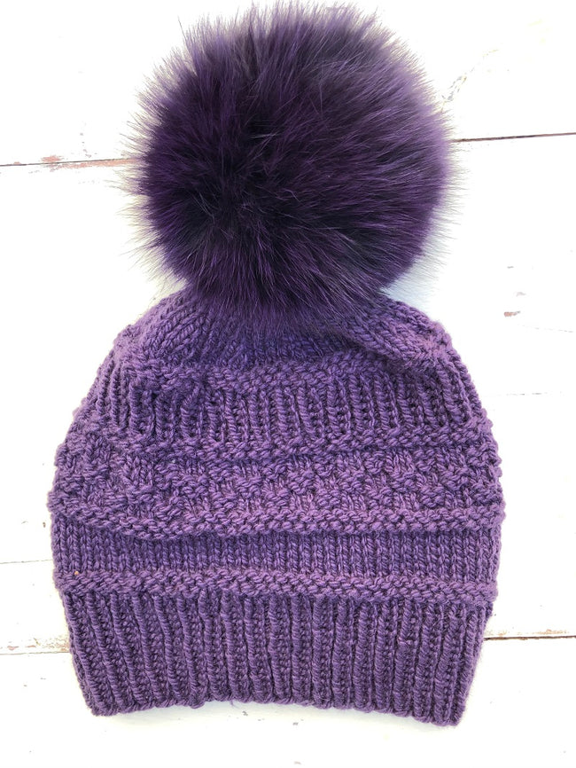 Shay's Hat with Optional Fur Pom Pom Hat Kit
