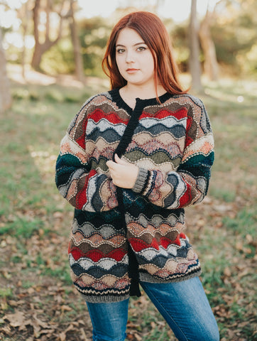 Double Moss Cable Mock Neck Pullover Pattern