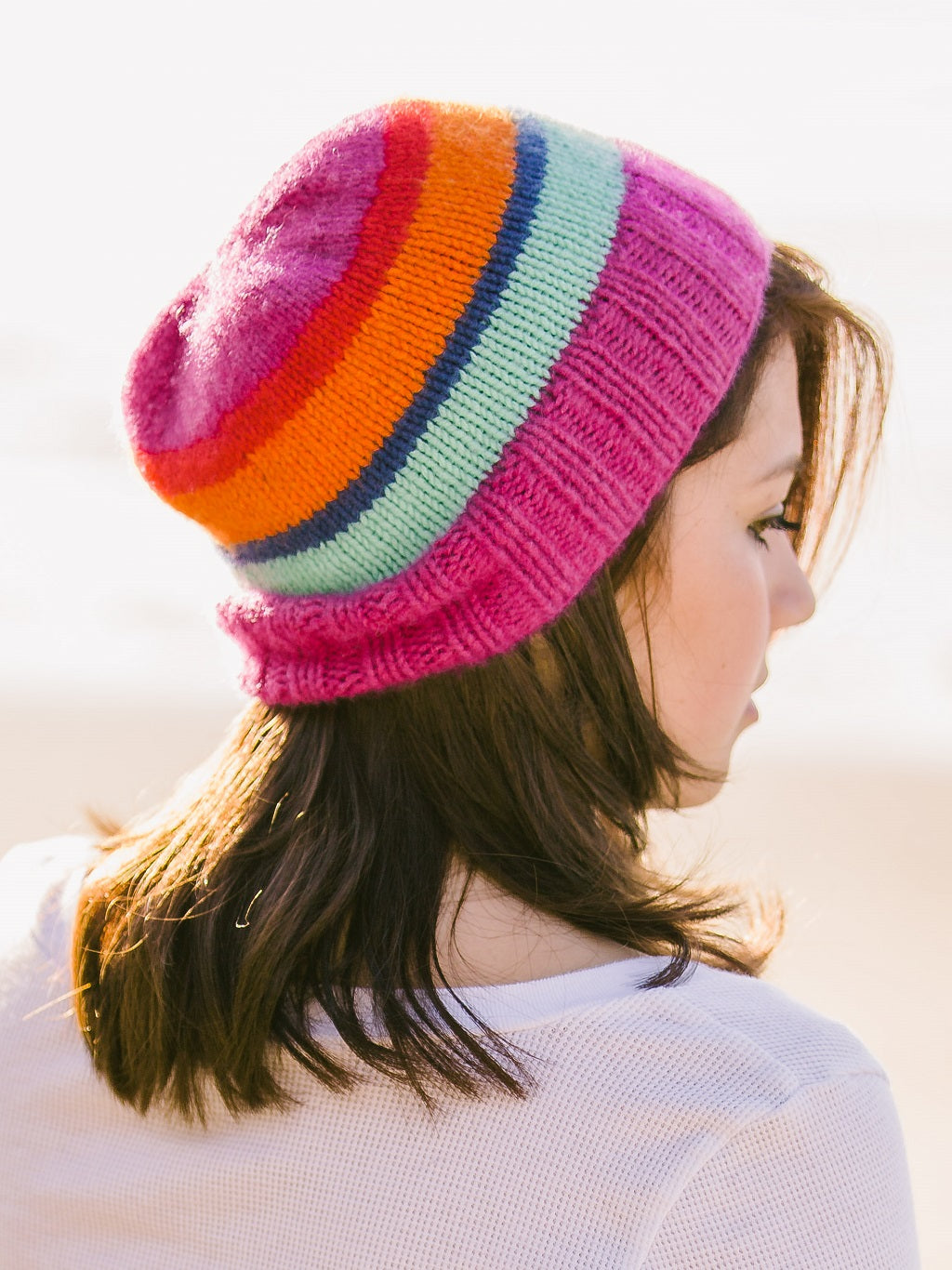 Jennifer's Striped Cashmere Hat