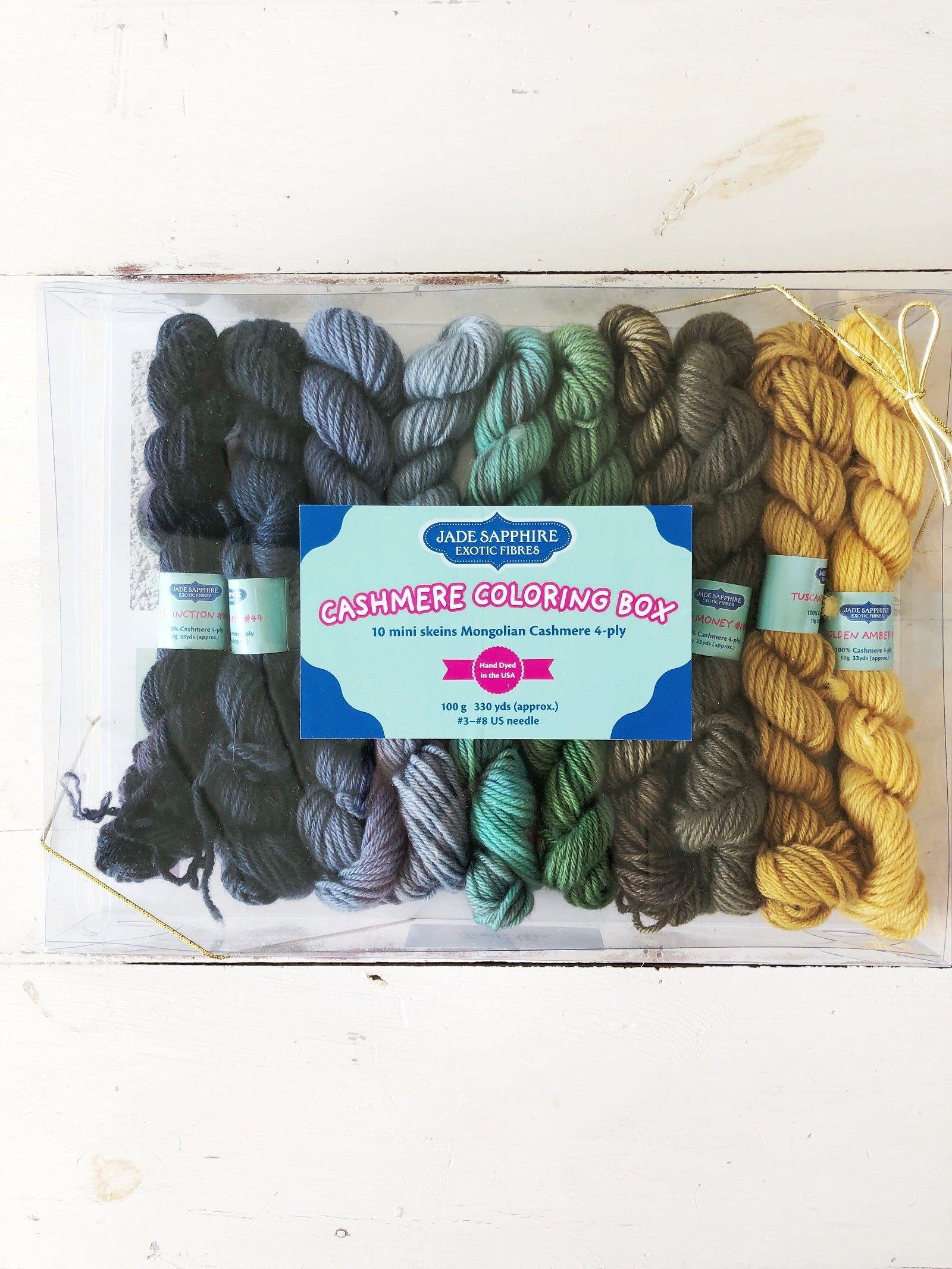 Jade Sapphire Cashmere Coloring Box Kit (5 Color ways to choose from)