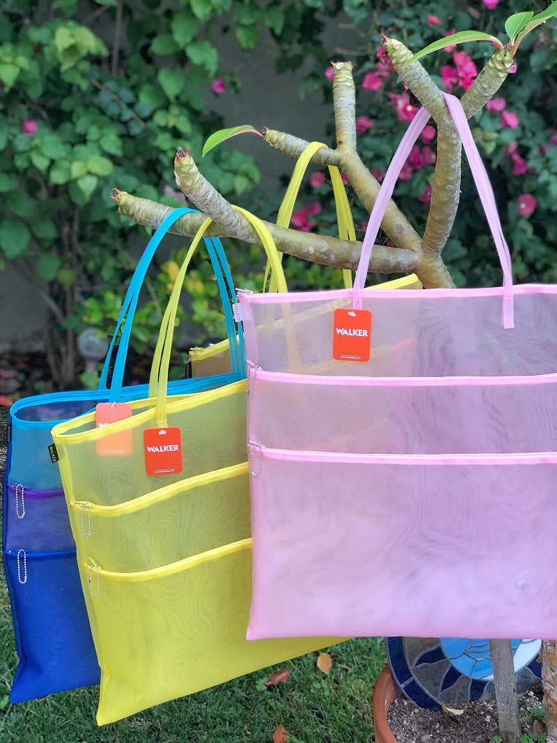 Walker Triple Zip Tote with Handles - Assorted Colors