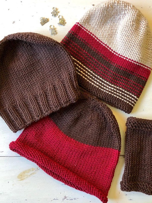 Striped Zara Plus Hat and Glove Kit