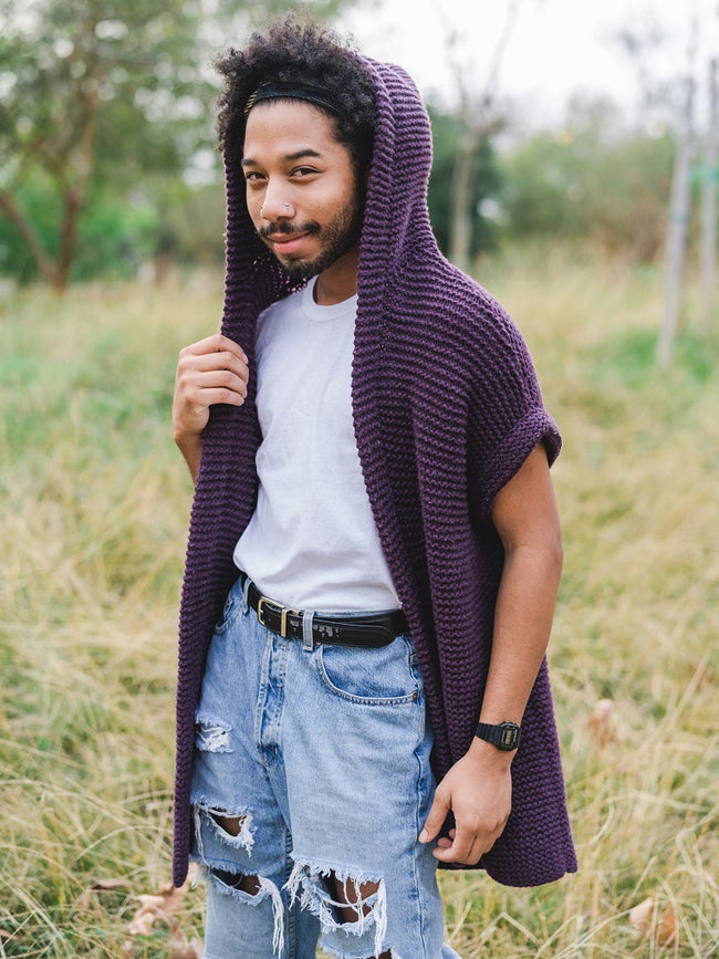 Easy Garter Stitch Hoody Vest Pattern