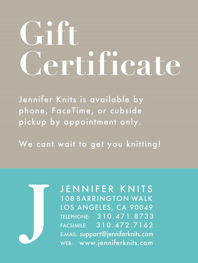 Jennifer Knits Gift Card
