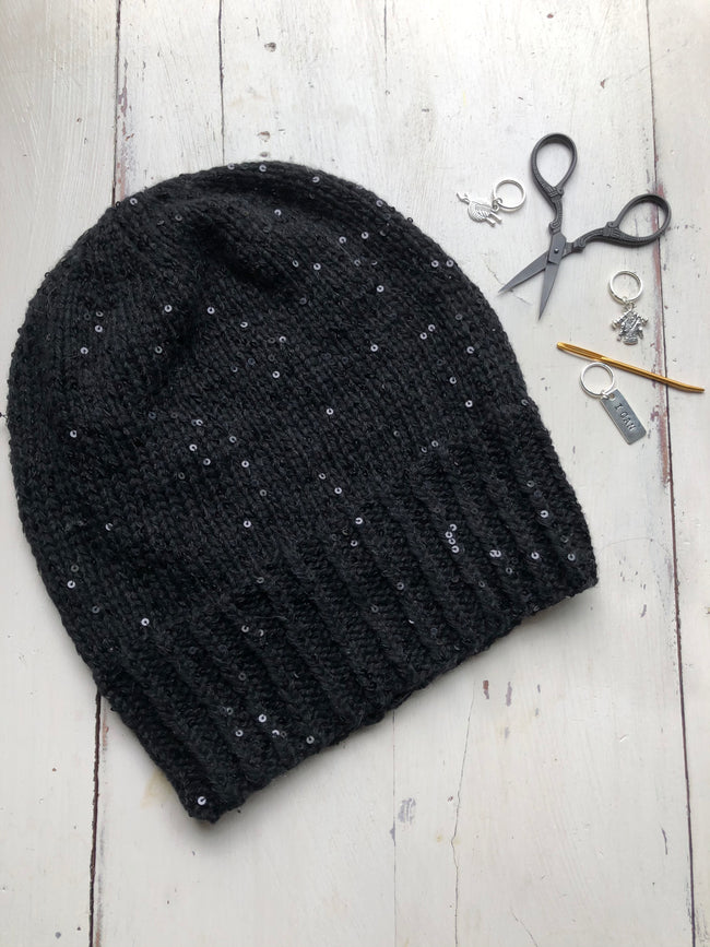 Cashmere and Sequins Hat Kit