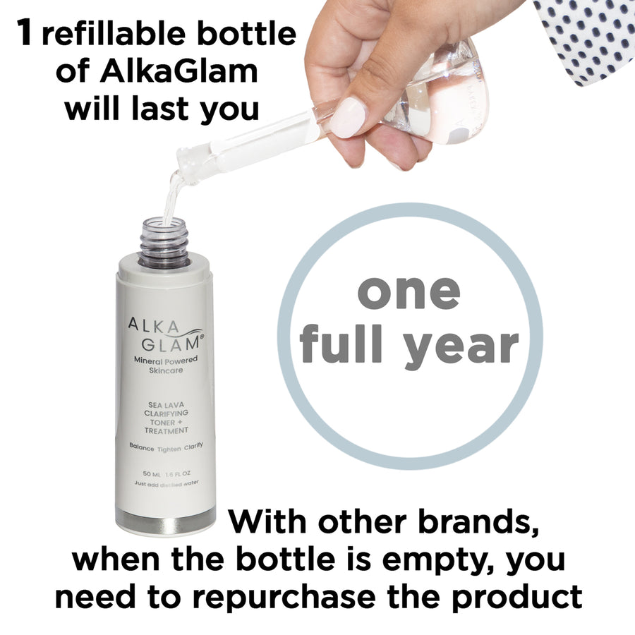 refillable with water