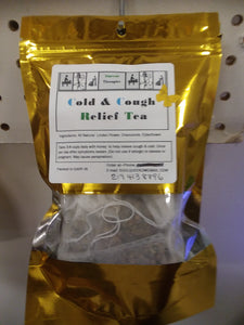 Tea Blend for colds and coughs. Soothes throat. Loose Tea and Tea Bags