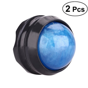 2pcs Manual Massage Ball Pain Relief Roller Self Massage Therapy and Relax Massage Roller for Sore Muscle