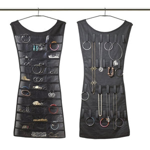 Double-Sided Black Dress Jewelry Organizer
