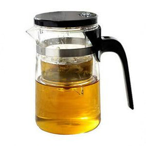 Elegant Steel & Glass Teapot
