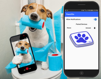 Dog received Paws2Go notification on cell phone
