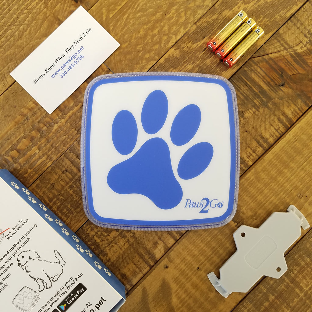 What's inside the box Paws2Go dog doorbell