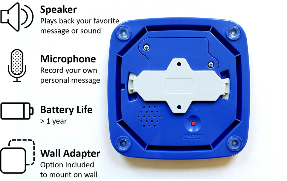 Bottom Features of the Paws2Go Dog Doorbell