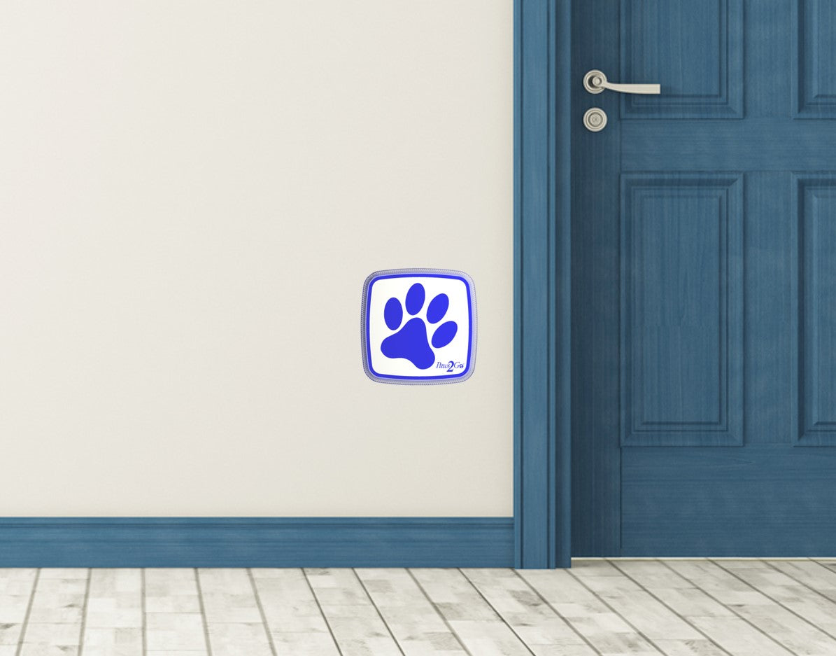Paws2Go can mount on a wall replacing those doggy bells