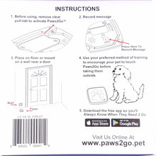 Back of Paws2Go Product Box