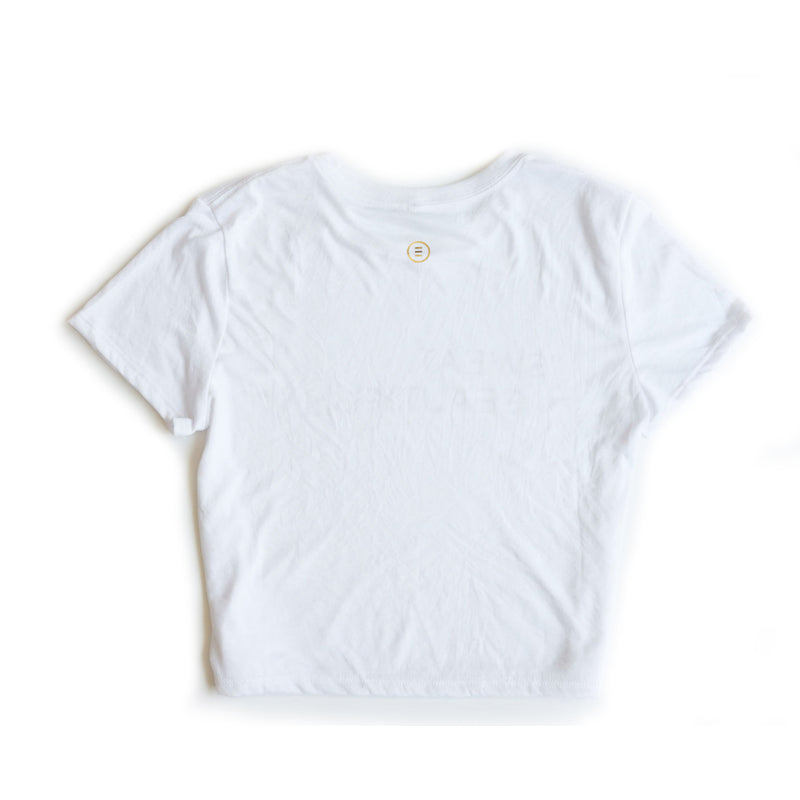 Limited Edition Cropped White T-Shirt