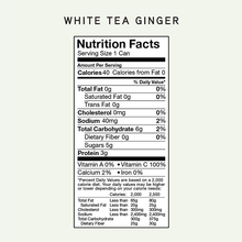 Load image into Gallery viewer, SkinTē White Tea Ginger 12-pack Collagen Sparkling Tea