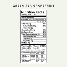 Load image into Gallery viewer, 12-pack Green Tea Grapefruit Sparkling Collagen Tea