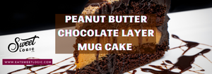 Peanut Butter Chocolate Layer Mug Cake Recipe
