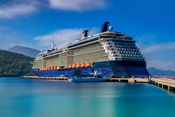 Celebrity cruise ship on the water