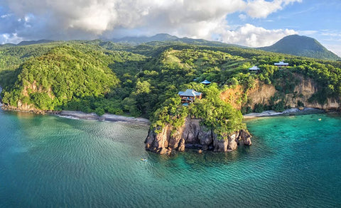 Coast of Dominica in the Caribbean