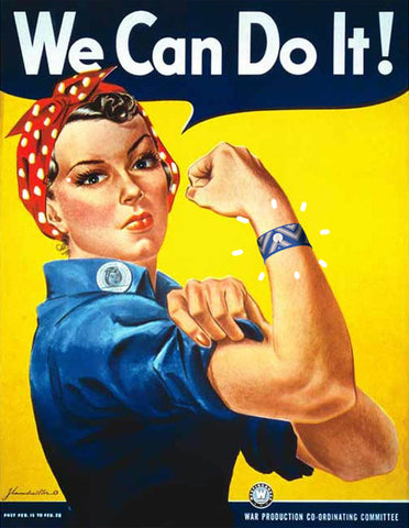 We Can Do It Rosie the Riveter with Blislsets Nausea Relief Bracelets