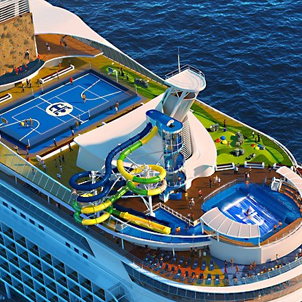 Royal Caribbean cruise ship with water slide