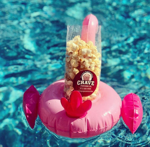 Poolside flamingo popcorn crave