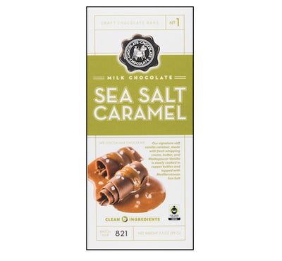 Sea Salt Caramel Milk Chocolate Bar