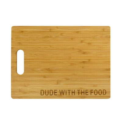 Dude with the Food Cutting Board