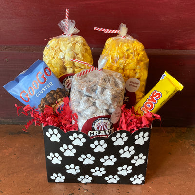 Puppy Love & Popcorn Gift Box - Small