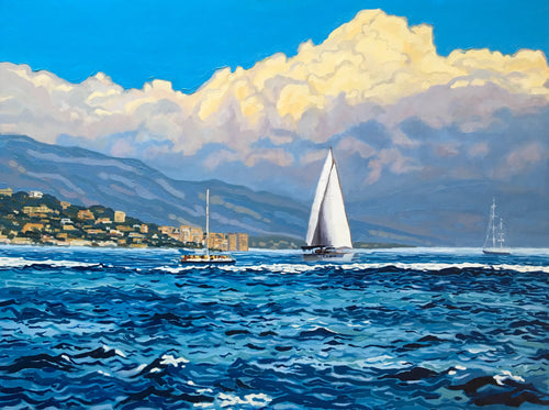 Adriatic Sea Sailing Painting by Miles Morin