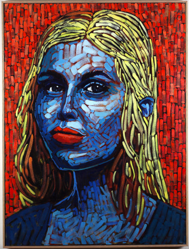 Blue Beauty 30x40 Original Oil Painting - Miles Morin Fine Art
