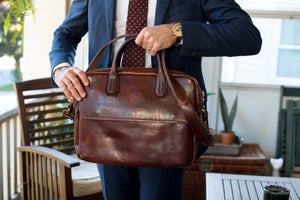 Leather Briefcase Cenzo Commuter Bag