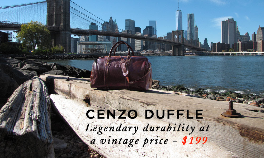 Italian Leather Duffel Travel Bags