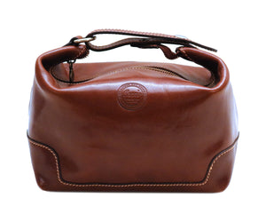 Cenzo Italian Leather Travel Toiletry Bag Dopp kit 2