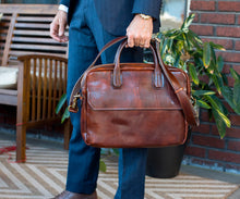 Cenzo Italian Leather Messenger Bag Briefcase Laptop Bag 12