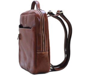 Cenzo Italian Leather Backpack Laptop Bag Knapsack 2