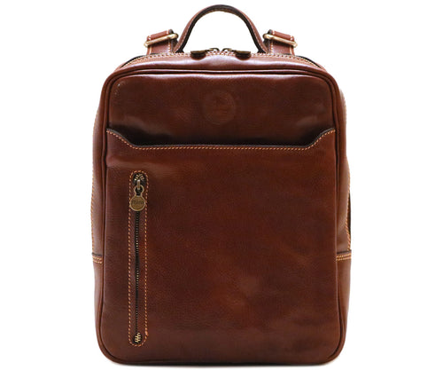 Cenzo Italian Leather Backpack Laptop Bag Knapsack 1