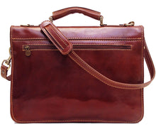 Cenzo Italian Leather Laptop Messenger Bag Briefcase 3
