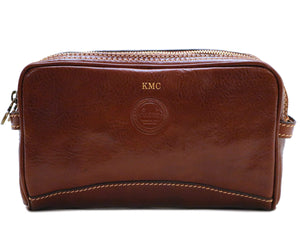 Personalize your Cenzo Leather Dopp Kit