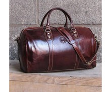 Cenzo Italian Leather Duffle Travel Bag 7