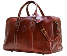 Cenzo Italian Leather Trunk Duffle Travel Bag 1