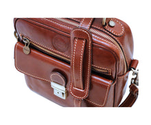 Cenzo Italian Leather Field Messenger Bag 3