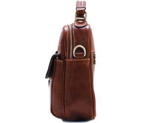 Cenzo Italian Leather Field Messenger Bag 4