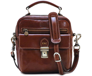 Cenzo Italian Leather Field Messenger Bag 7