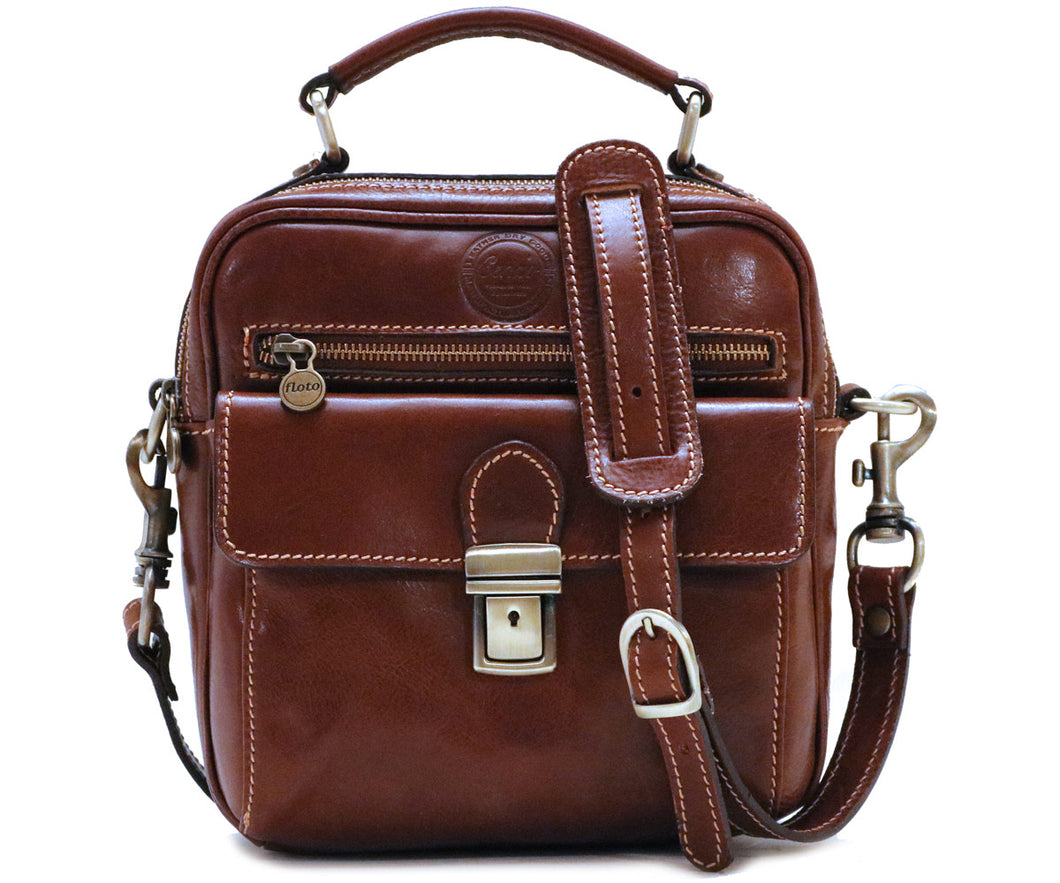 Cenzo Italian Leather Field Messenger Bag 1