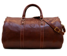 Cenzo Italian Leather Convertible Garment Duffle Bag 2