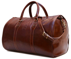Cenzo Italian Leather Convertible Garment Duffle Bag 1