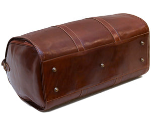 Cenzo Italian Leather Convertible Garment Duffle Bag 7